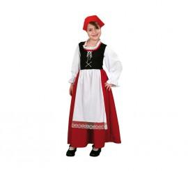 Disfraz de Pastora Aldeana para Bebé de 1 a 2 años