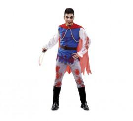 Disfraz de Príncipe Azul Zombie para hombre talla M-L