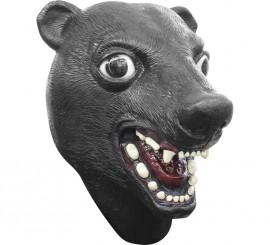 Máscara de oso negro de látex