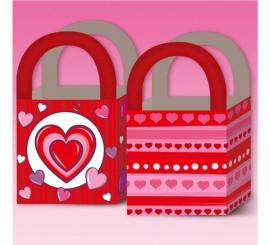 Pack de 6 Bolsas de regalo de Corazones de 18x12 cm