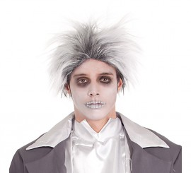 Peluca blanca y gris de Novio Cadáver