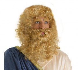 Peluca Y Barba rubia Rey Mago Melchor