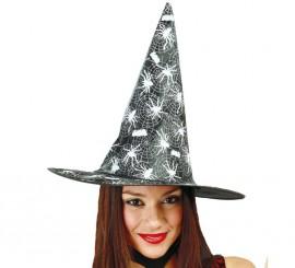 Sombrero de Bruja negro con Telarañas