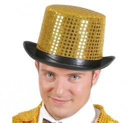 Sombrero de copa dorada Brillante