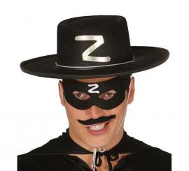 Sombrero de héroe enmascarado de fieltro negro