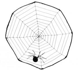 Telaraña de 40 cm. con tarántula para Halloween