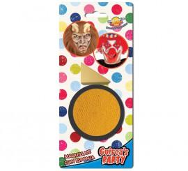 Maquillaje cremoso con Esponja color Amarillo