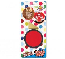 Maquillaje cremoso con Esponja color Rojo