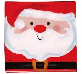 20 Servilletas de Santa Claus de 33x33 cm