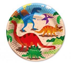 6 Platos de Dinosaurios de 22 cm