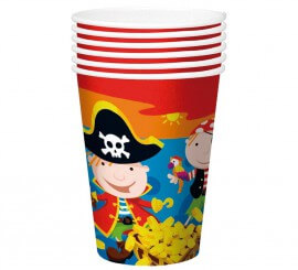 6 Vasos de Piratas de 250 ml