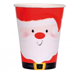 6 Vasos de Santa Claus de 250 ml