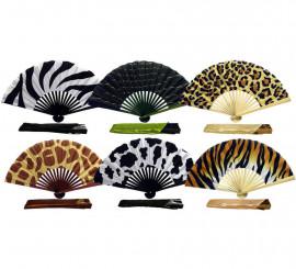 Abanico bambú de animales en varios diseños