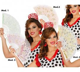 Abanico Flamenco colores surtidos 23 cm