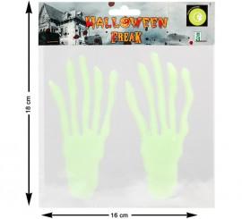 Adhesivo con relieve Mano Radioactiva 19 cm