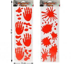 Adhesivos con Relieve en 2 modelos surtidos 46x13 cm