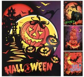 Adhesivos de halloween en modelos surtidos 40 x 30 cm