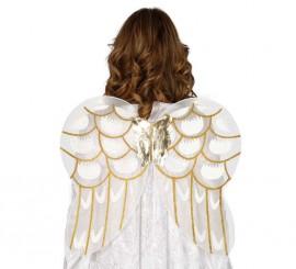 Alas de Ángel con detalles dorados de 56x48 cm