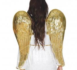 Alas de Ángel doradas 80 cm