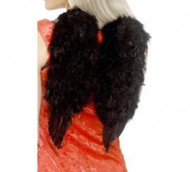 Alas de Ángel Negras con plumas 30x40 cm