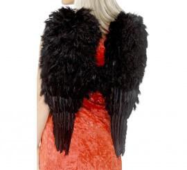 Alas de Ángel Negras con plumas 50x60 cm