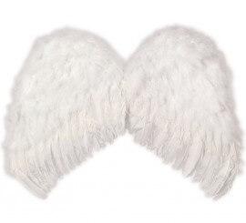 Alas de Ángel plumas blancas de 62x48 cm.