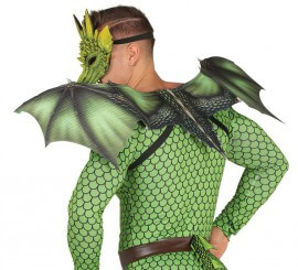 Alas de Dragón verdes 94X36 Cm
