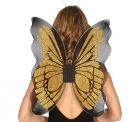 Alas de Mariposa color oro