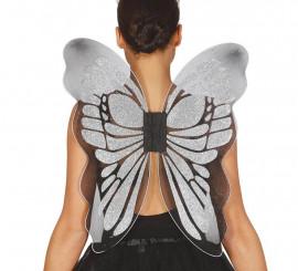 Alas de Mariposa color plata