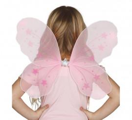 Alas color rosa para niña