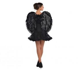 Alas negras de ángel caído de 51 x 61 cm