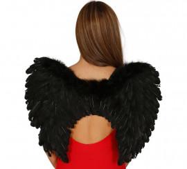 Alas negras de plumas de 50 cm. para Halloween
