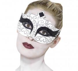 Antifaz gótico Cisne negro