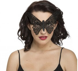 Loup Gothique en Dentelles Papillon Noir