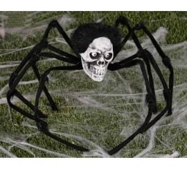 Araña calavera de 85 cm para decoración