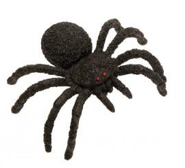 Araña Peluda negra 15 x 13 cm