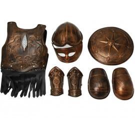Armadura de Gladiador con 7 piezas para niño