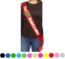 Banda Feliz 18 Cumpleaños colores surtidos