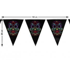 Banderines Día de los Muertos 195X25 cm