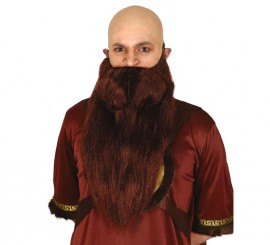 Barba castaña extra larga