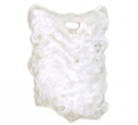 Barba de color blanco para disfraz de Papa Noel