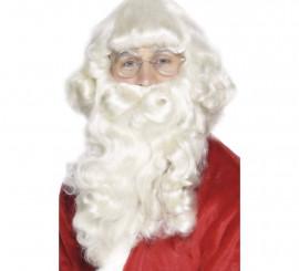 Barba de Papá Noel Blanca Deluxe 38 cm