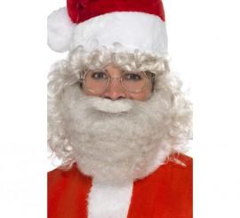 Barba de Papá Noel Gris Deluxe 16,5 cm