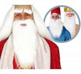 Barba y cejas blancas grande