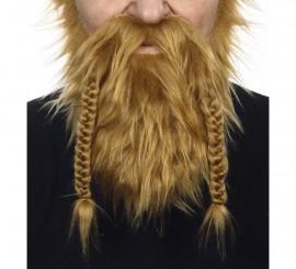 Bigote con Barba rubio oscuro