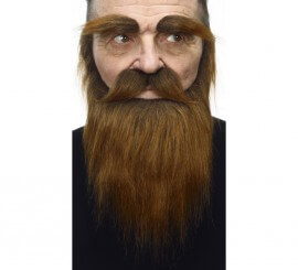 Bigote con Barba y Cejas marrón