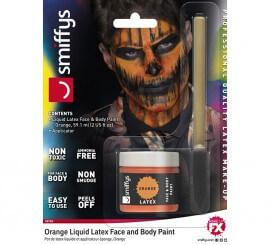 Blister de Látex líquido naranja fluorescente con aplicador
