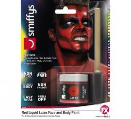 Blister de Látex líquido rojo con aplicador para Demonio