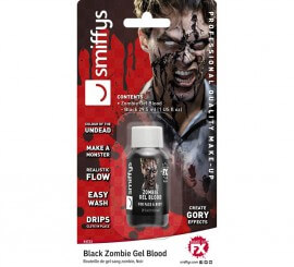 Blister de Sangre en gel negra para Zombie de 29,5 ml.