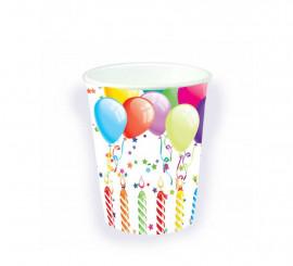 Bolsa 8 Vasos de cumpleaños
